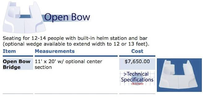 Open Bow Fiberglass Houseboat Flybridges