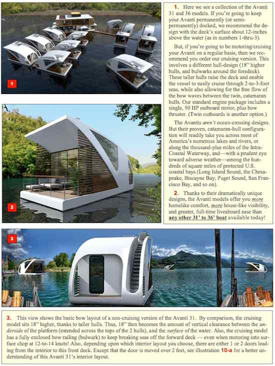 AVANTI, Two New Floating Home, Modern Style Houseboats