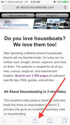 All About Houseboats is mobile friendly