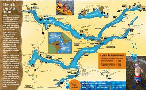Shuswap Houseboat Rental map