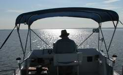 The view from a Houseboat Flybridge