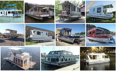 Pontoon boat builders of pontoon houseboats