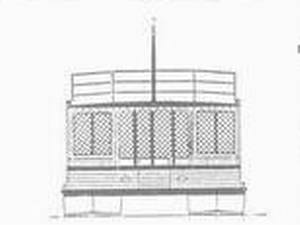 Plans for building a large pontoon houseboat.