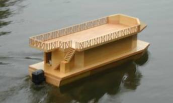 Building a Houseboat without Plans, only a 1/12 scale model.
