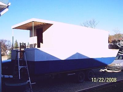 Building A Trailerable Houseboat Using A Scow Type Hull