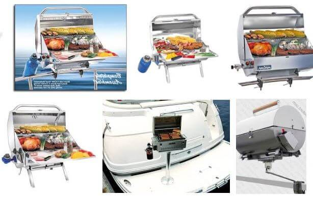 Marine BBQ propane gas grills for houseboats