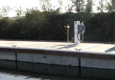 A common pump-out unit found at marinas