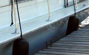 Chris Craft Houseboat stanchions