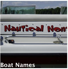 House Boat Names and Decals