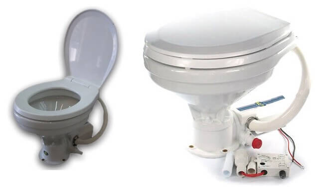 deluxe electric toilet for houseboats