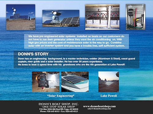 Donns Boat Shop - solar power for houseboats