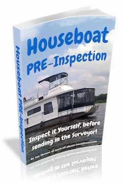 Houseboat Pre-Inspection, before Marine Surveyor