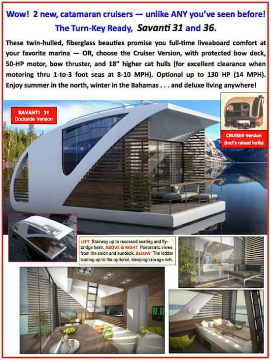 New SAVANTI modern floating home style houseboats