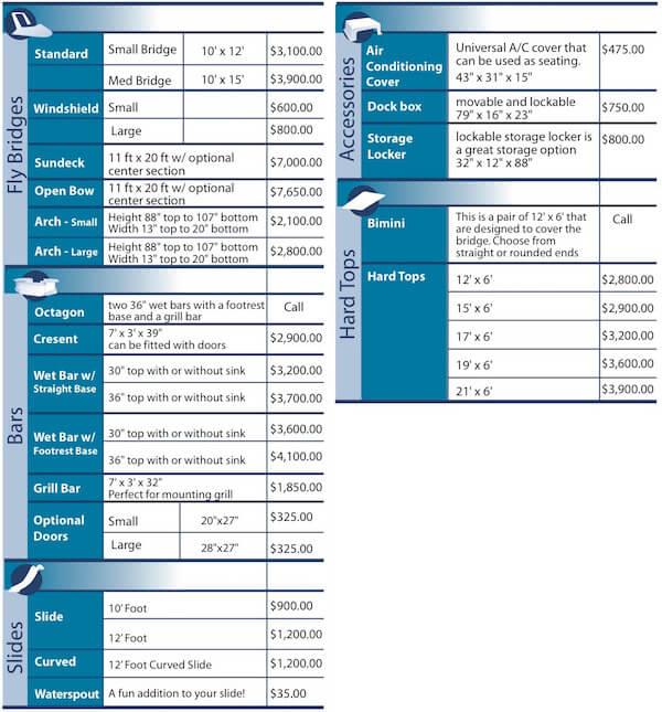 Fiberglass Houseboat Accessories