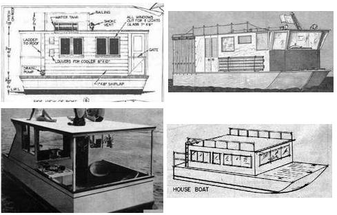 Free Houseboat Plans and Designs for Building a House Boat or Pontoon