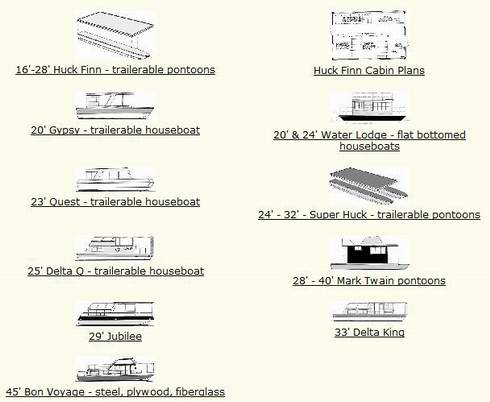Houseboat Plans on How to Build a Houseboat with free plans as a