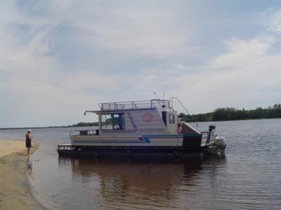 Homemade Houseboats Enjoying A Great Home Built Pontoon Boat