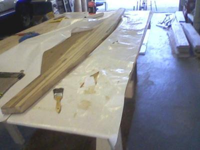 Houseboat Bulkhead - one of the bottom bulkhead pieces around 8'6