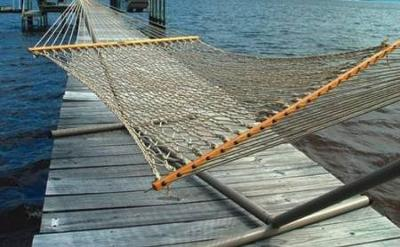 Houseboat Hammocks - great to relax on house boats.