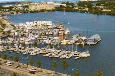 Houseboats In City Marina Key West Florida