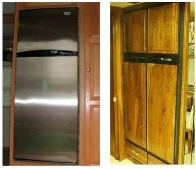 Houseboat Fridges - dual LP propane gas electric refrigerators
