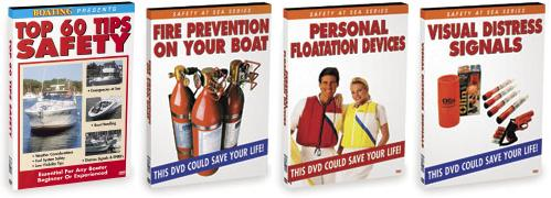 Houseboat Safety Distress PFD Fire Video DVD