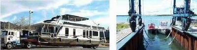 Houseboat Trailers - Hydraulic Flat Bed, Travel Lifts