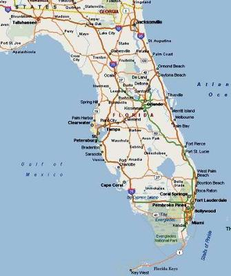 Houseboat Friendly Communities On Florida East Coast - Map of eastern florida