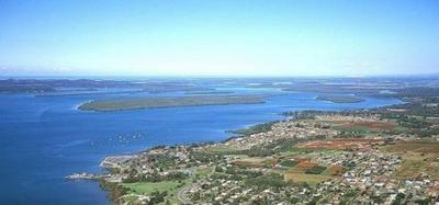 Houseboating in Redland Bay, Queensland, Australia