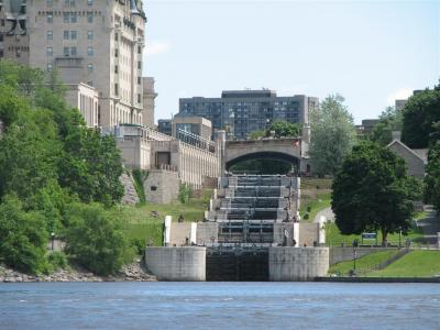 Houseboating on the Rideau Canal, Ontario, Canada