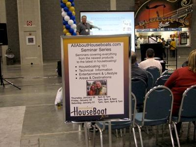 The free IHF NMMA Houseboat Show seminars were great!