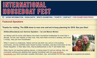 IHF International Houseboat Fest boat show