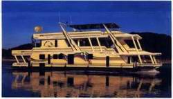 No ocean travel for full hull barge style houseboats