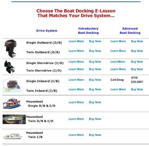 Learn Houseboat Docking Lessons Books