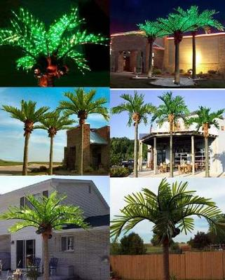 Decorative lighted palm trees look great on houseboats