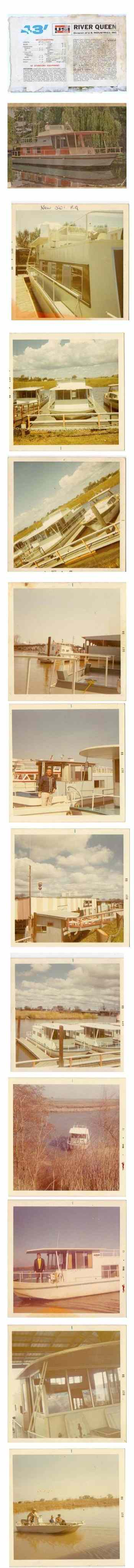 original history photos of River Queen houseboats