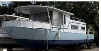 Rebuilding A Steel Hull Houseboat