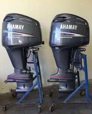 Plenty of twin outboard installations on houseboats