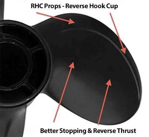 Houseboat Props, better thrust, stopping, and reverse propellers