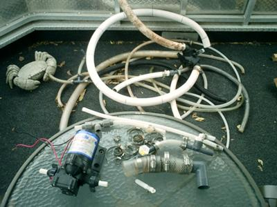 Houseboat Plumbing - Now where did that hose go?
