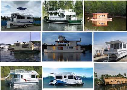 Small Houseboats with starter boats