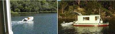 trailerable houseboats are great for those holiday vacations - Small Houseboat