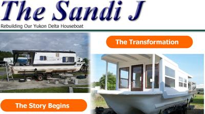 Small Trailerable Houseboats   Rebuild A Yukon Delta Houseboat