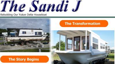 Small Trailerable Houseboats - rebuild a Yukon Delta houseboat