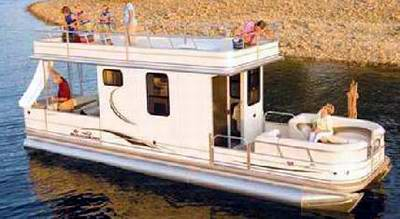 A typical Sun Tracker Pontoon Houseboat