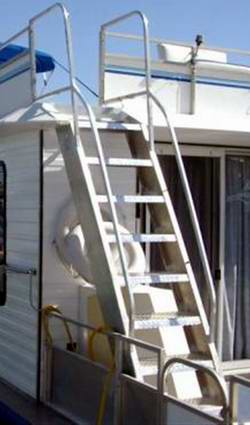 Ladder Steps Houseboat Designs