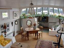 Open Houseboat Designs ;, Open Interior Houseboat
