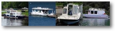 Small Houseboats are popular House Boat Designs and Trailerable