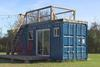 Can you build a houseboat using a shipping container?
