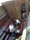 Catamaran Houseboat - installing bulkheads & stringers